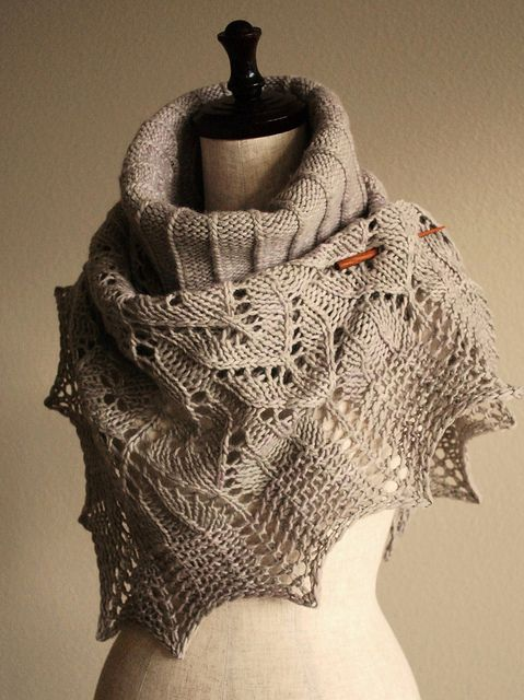 shawl and cowl in malabrigo worsted