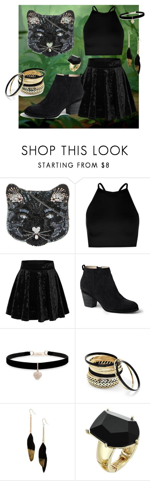 """Bagheera, the jungle book"" by jhmb on Polyvore featuring Accessorize, Boohoo, Lands' End, Betsey Johnson, Venus, Panacea and GUESS"