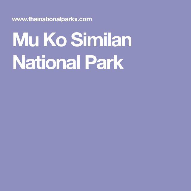 Mu Ko Similan National Park