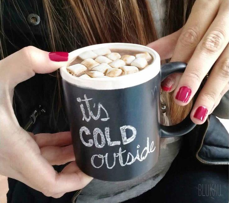 """Llegó el invierno, una época donde el frío es la excusa perfecta para tomar una rica taza de café, o mejor aún, una deliciosa taza caliente de """"#Cocoa mix"""" de #Blukau. #Blog #Tips #Infografía"""