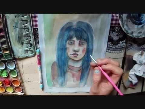paintings nr 3...aquarell...mixmedia... - YouTube
