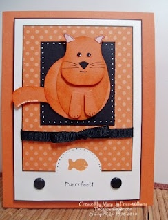 Stampin' Up!  Owl Punch  Mary Jo Price-Williams  Cat