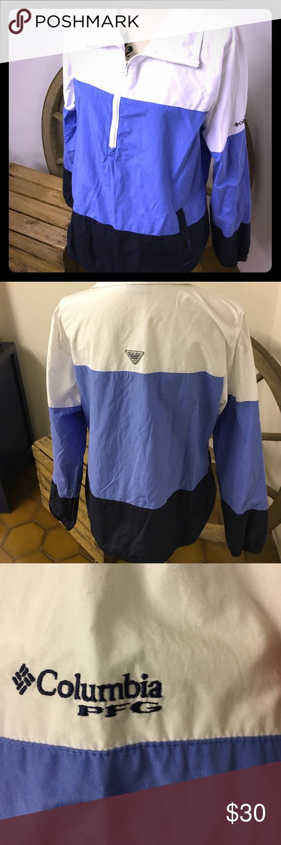 Columbia Pullover windbreaker Size L pullover windbreaker, Omni shield Columbia Jackets & Coats