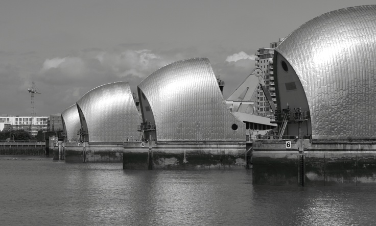 London Thames Barrier, some of my buddies work here, I had a tour of it once, it was fab!