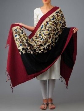 Kalamkari Ikat Cotton Dupatta