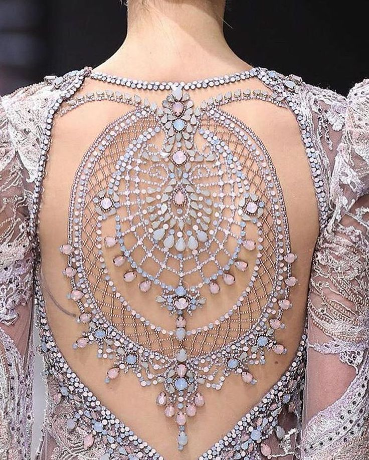 This gorgeous detail is from Michael Cinco's #coutureweek presentation, but how stunning would this detail be on a #couture #weddinggown? | WedLuxe Magazine | #wedding #luxury #weddinginspiration #luxurywedding #bridal #weddingdress