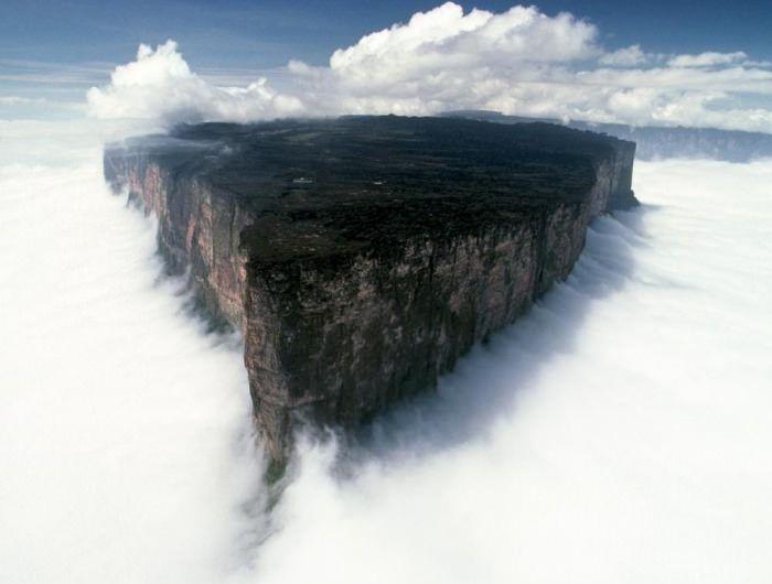 The Mount Roraima......... looks like a slice of cheesecake to me.....