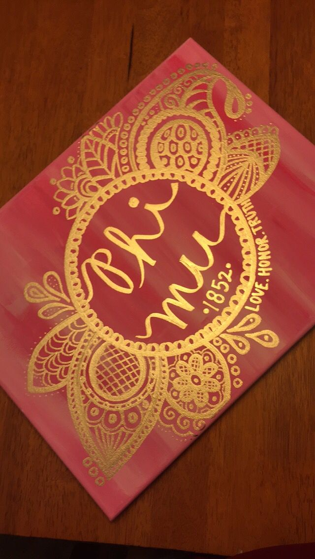 Phi mu. Love honor truth. Canvas.