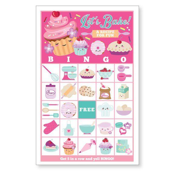 Cupcake Baking Bingo Game Kid S Printable Bingo Game Cupcake
