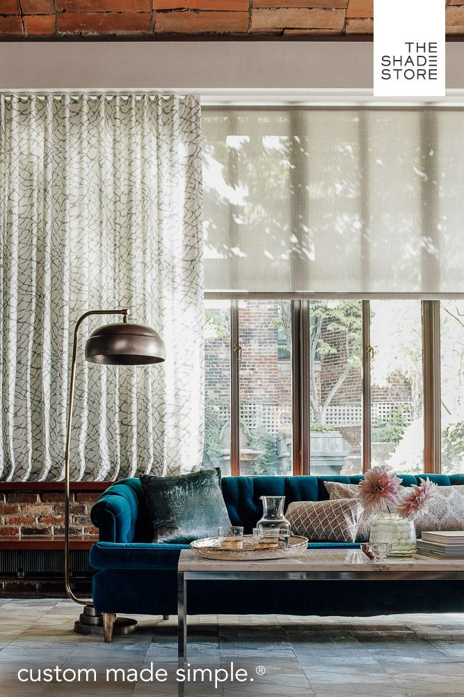 Bring your style into view. Custom shades, blinds, and draperies by The Shade Store. Visit any of our nationwide showrooms or shop online. Ships free in 10 days or less.