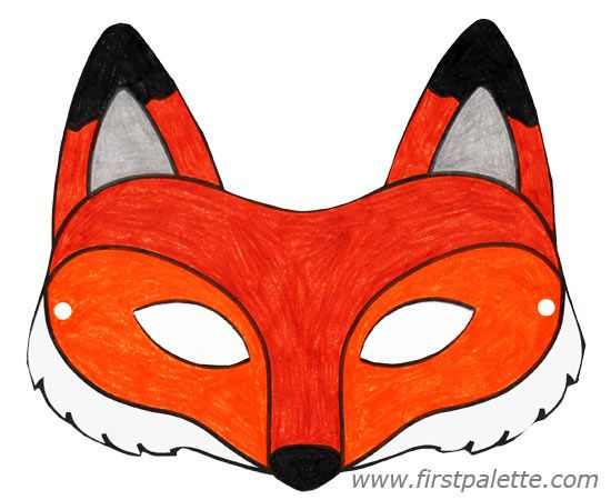 Fox mask and other free printable animal masks