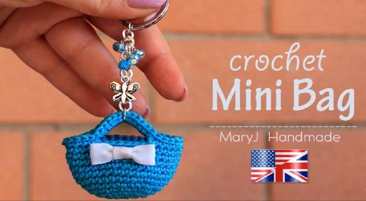 Crochet Mini Bag Key Ring And More [FREE Video Tutorial]