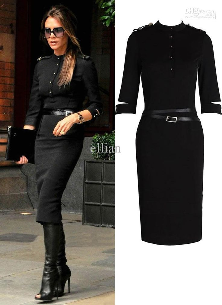 2014 Fashion Winter Long-sleeve Women Work Dress Ladies Business