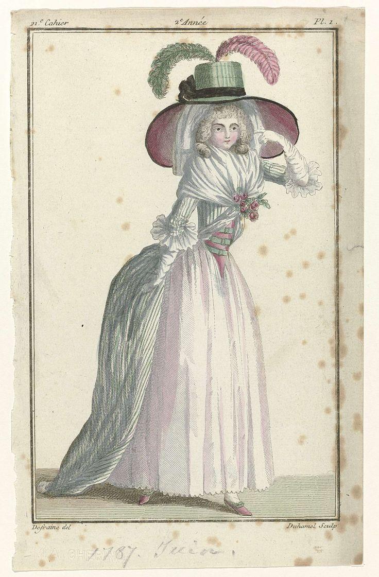Magasin des Modes Nouvelles Françaises et Anglaises, 10 juin 1787, Pl.  1, A.B. Duhamel, Buisson, 1787