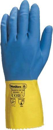 Ζεύγος γάντια λάτεξ δίχρωμα διπλής εμβάπτισης & βαμβάκι πάχους 0,6mm μήκους 30 εκατοστών - Κάντε κλικ στην εικόνα για να κλείσει
