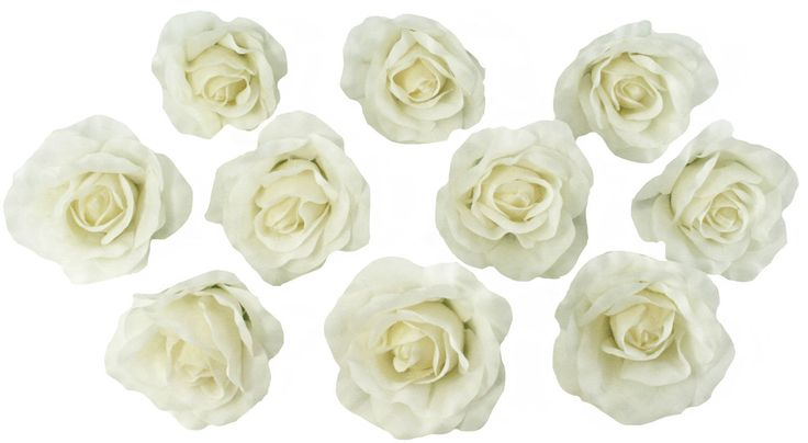 10 Ivory Rose Heads Silk Flower Wedding/Reception Table Decorations Bulk Silk Flowers by TheBridesBouquetcom on Etsy https://www.etsy.com/listing/193706574/10-ivory-rose-heads-silk-flower