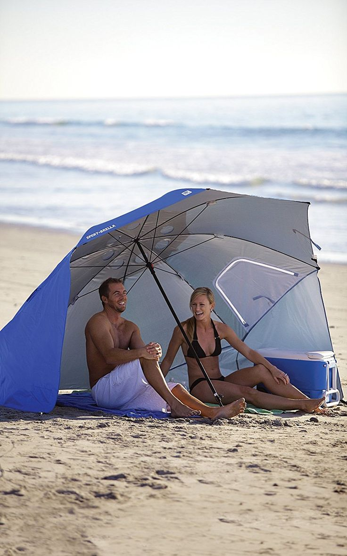 SportBrella Portable AllWeather Sun Umbrella. 8Foot