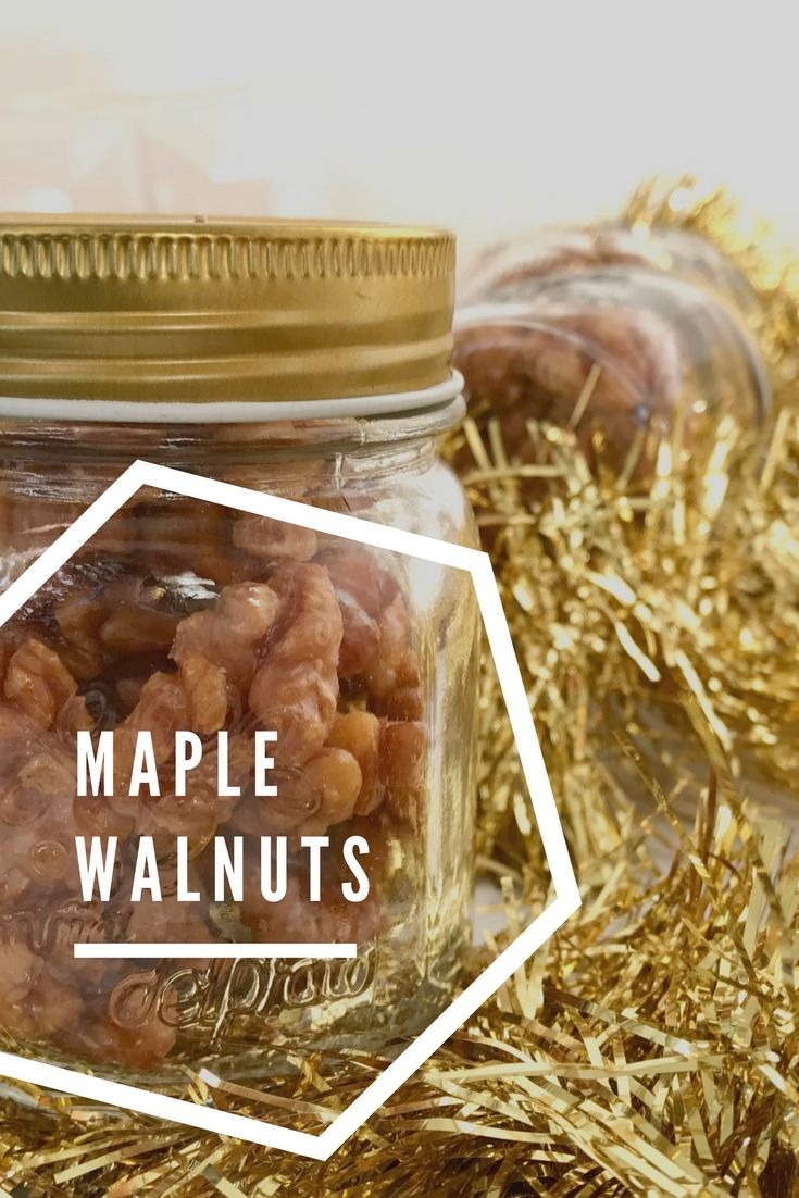 Maple walnuts - super easy homemade Christmas gift that takes just a few minutes to make. Paleo, gluten free, dairy free, easy recipe.