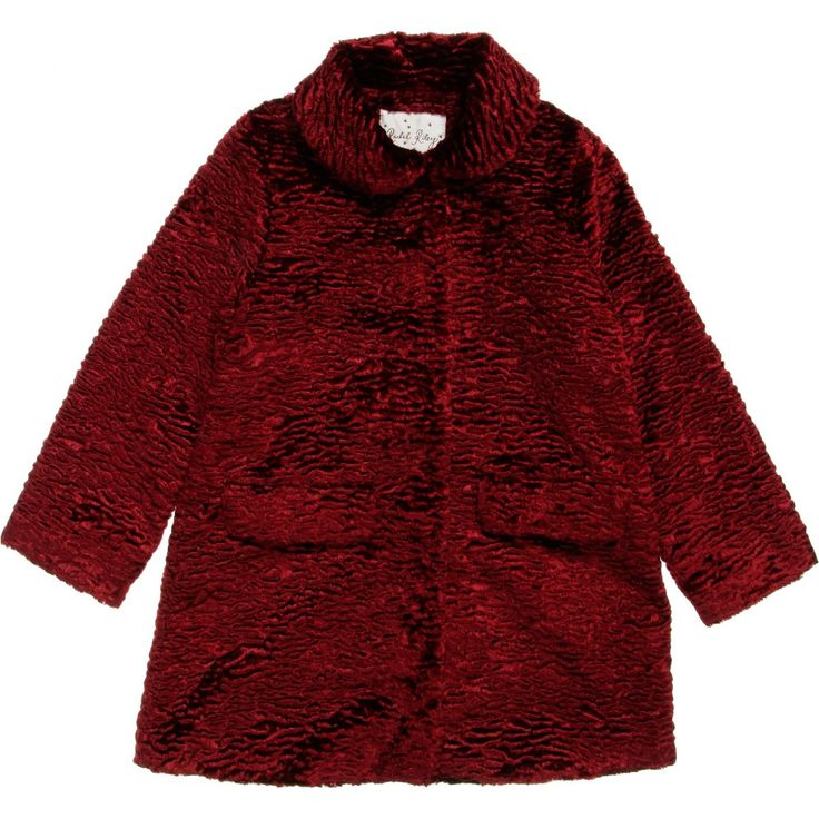 Girls Red Astrakhan Coat