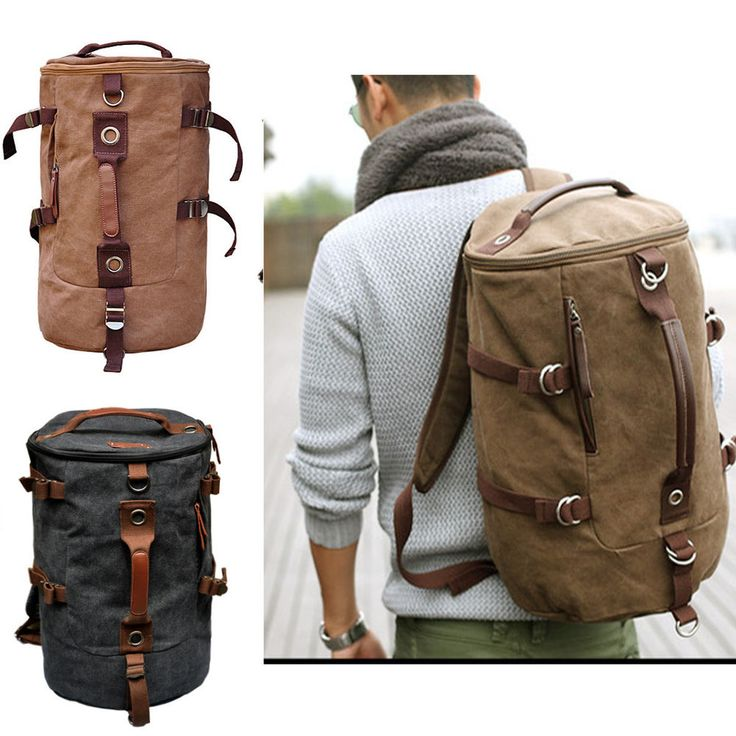 Men's Stylish Canvas Backpack Rucksack school bag Messenger Hiking shoulder bag Like this.
