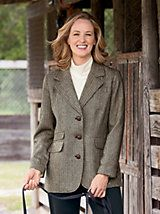 Wool Herringbone Blazer and other Womens Jackets. | Appleseeds