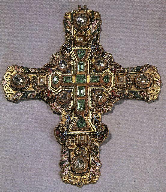 russianGold-Крест наперсный. 1885 Москва. Фирма Павла Овчинникова