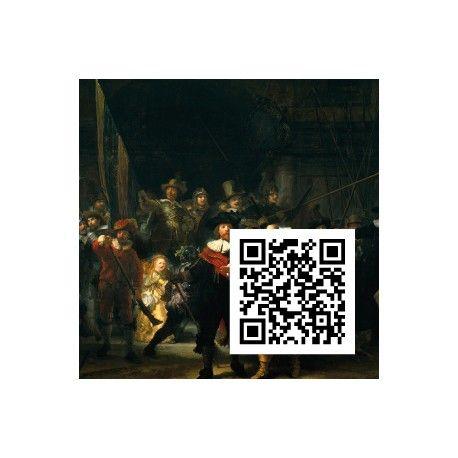 Die Nachtwache, Rembrandt Hamerszoon van Rijn, QR-Code, QR-Kunstwerk