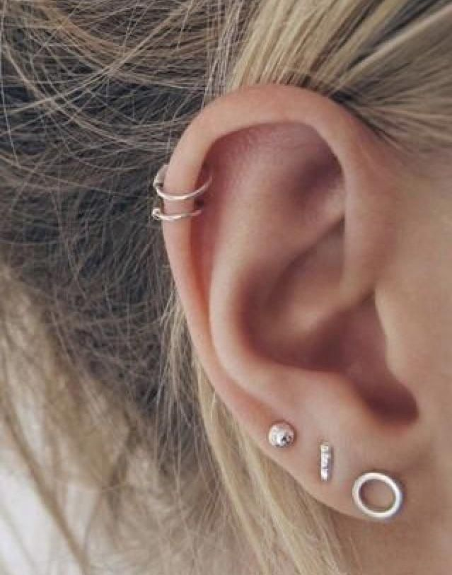 Cartilage Piercing Tragus Single 16g Tiny CZ Bezel piercing Minimalist Helix