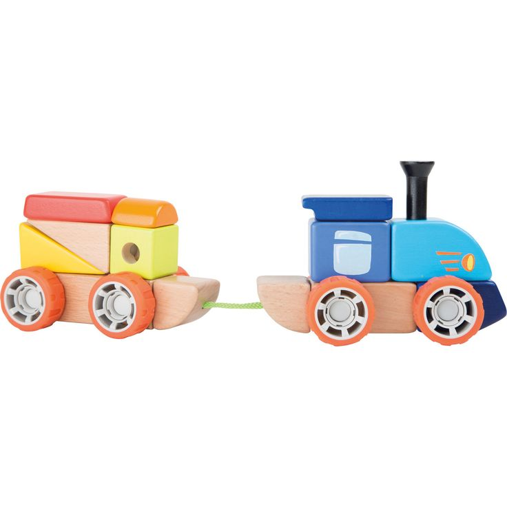 Jucăria educativă potrivită pentru mai multe categorii de vârstă, ideală pentru viitori ingineri. Cărămizile din lemn au un sistem de fixare ușor iar rezultatul va garanta amuzamentul celui mic.