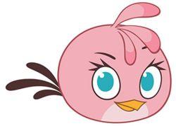 Stella Розовая птица Цвет розовый, животик более светлого оттенка. Форма почти круглая. Лицо: Брови тонкие и короткие, чёрного цвета. Глаза голубого цвета, располагаются далеко друг от друга, ресницы чёрного цвета. Клюв оранжевого цвета, очень маленький и короткий. Макушка представляет из себя двухцветный хохолок из трех пёрышек розового цвета с тёмными концами. Хвост состоит из трех длинных тонких пёрышек чёрного цвета.