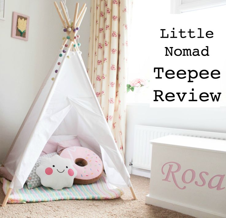 Take a look at this gorgeous teepee. Perfect for a toddler room. Teepee Review. Home inspiration