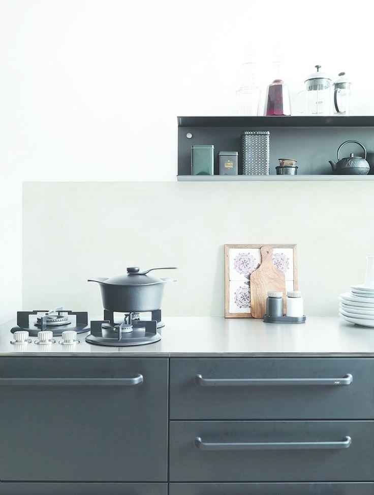 kitchenwalls backsplash tadelakt maroc stuc grey kitchen