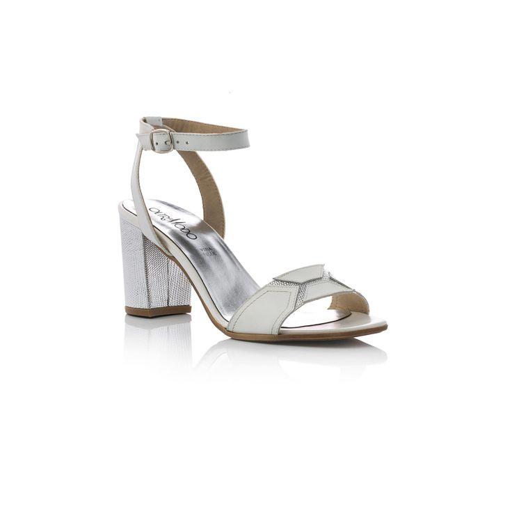 Sandali in pelle argento