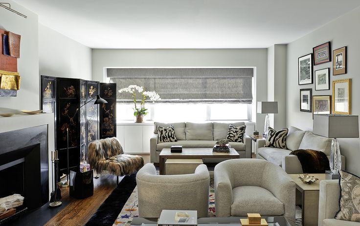 A Park Avenue Living Room by Katch I.D. Interiors.
