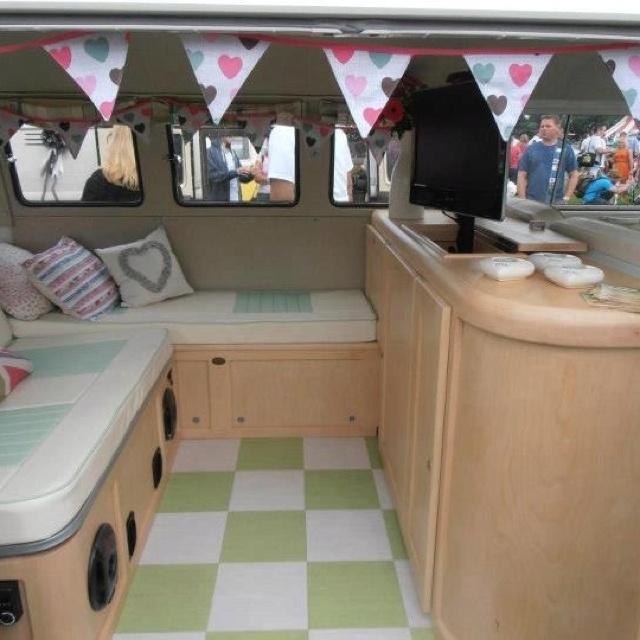 maple vw type 2 interior from ATT Bespoke Bus Furniture