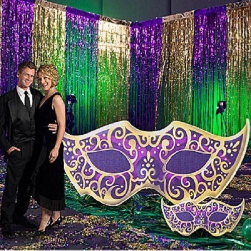 MYSTIQUE MASK STANDEE-LARGE * party decor * birthday * masquerade * mardi gras in Home & Garden | eBay
