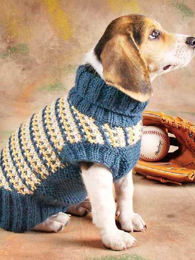 Slip-Stitch Dog Sweater knitting pattern