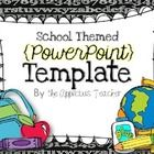 This is a school themed PowerPoint Template. Each slide is editable so you can create your own fun and SUPER cute presentation. PERFECT for Open Ho...