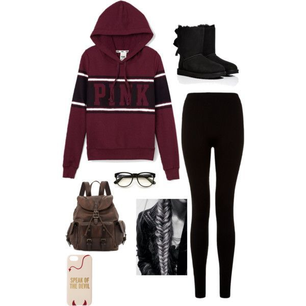A fashion look from November 2014 featuring Victoria's Secret PINK hoodies, UGG Australia boots and Frye backpacks. Browse and shop related looks.