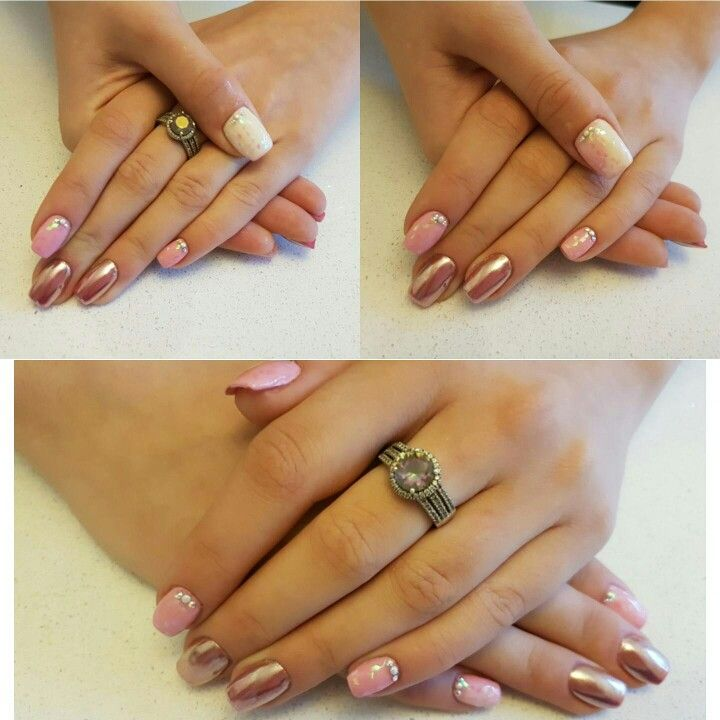 Color changing #pink #rosegold #nails #pretty
