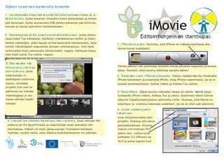 iMovie - starttiopas - Tietotaitotalkoiden tuottama Issue julkaisu