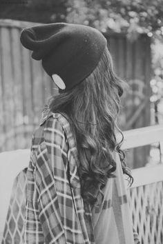 skater fringe hair for girls | Long hair Cute hat Grunge Hipster More