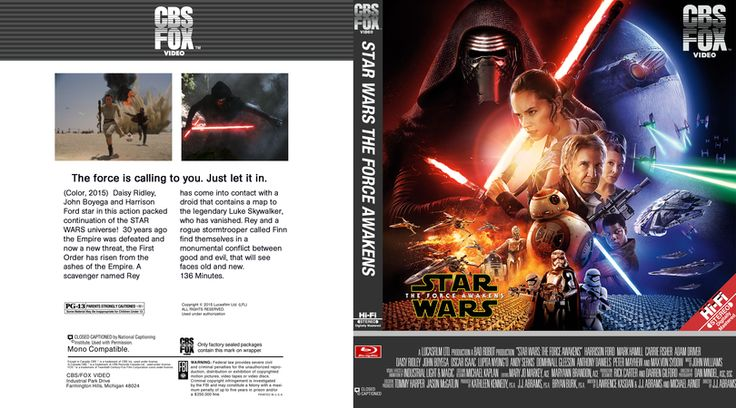 Star Wars Episode 7 Blu-ray Custom Cover