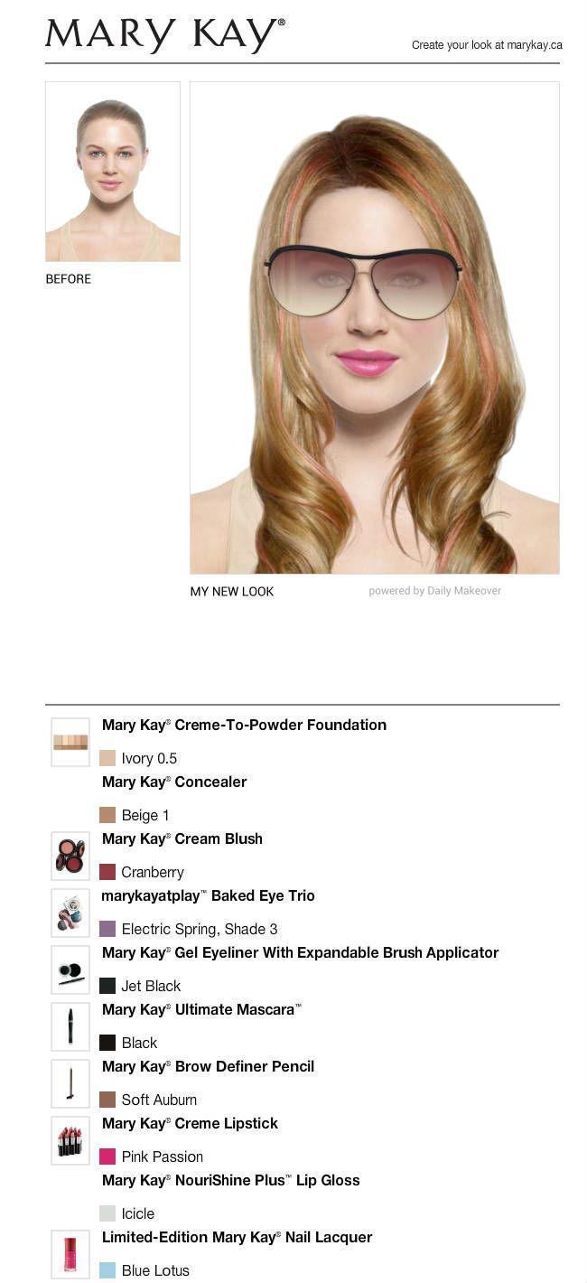 I got a mary kay app and i had a makeover!