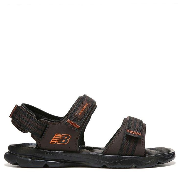New Balance Men's Plush 2.0 Rafter Medium/Wide Sandals (Brown/Orange) -