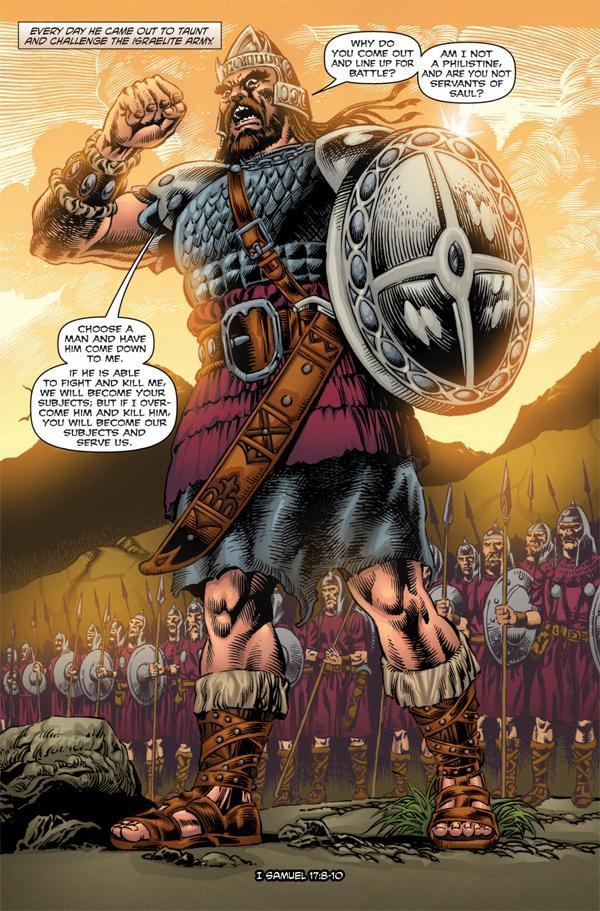 the biblical story of goliath and david from literature perspective The story of david and goliath teaches us a lesson about facing giant  and  impossible situations by seeing them from god's point of view.
