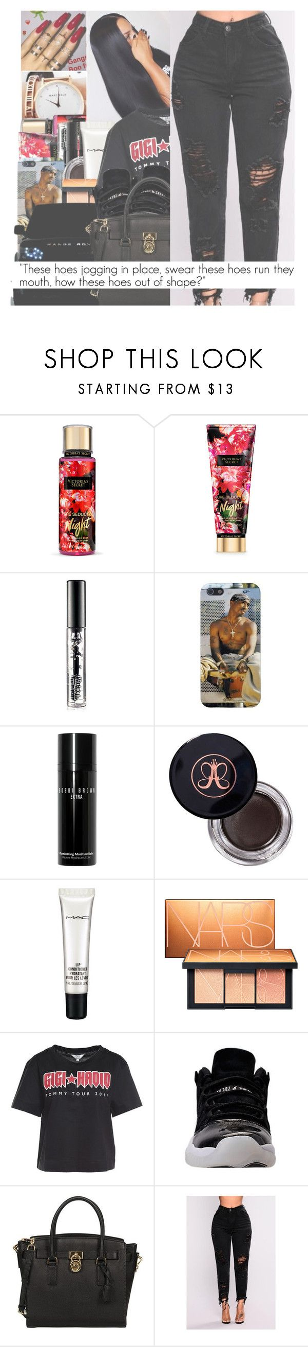 """""""NO LIMIT ~ G EAZY FT CARDI B"""" by w-on-der-lan-d ❤ liked on Polyvore featuring Victoria's Secret, MAC Cosmetics, Bobbi Brown Cosmetics, Anastasia Beverly Hills, NARS Cosmetics, Tommy Hilfiger, Michael Kors, casual, black and red"""