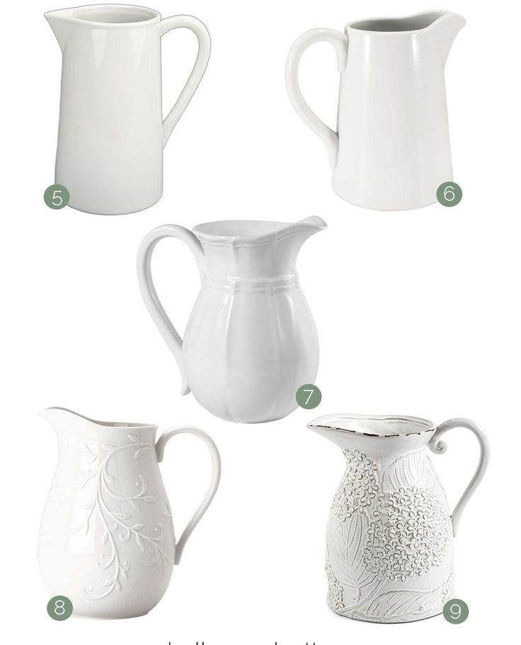 A beautiful farmhouse pitcher is an easy way to add farmhouse charm without busting the budget. Join me at Bellewood Cottage for 9 budget-friendly options!