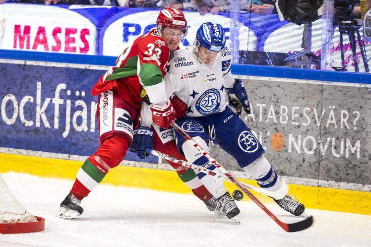Leksands Martin Karlsson and Moras Kristian Jakobsson, HockeyAllsvenskan 2015-16 FIGJAM