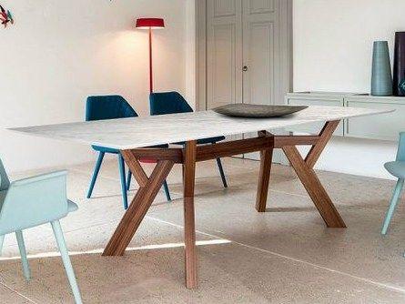 Mesa de salón rectangular 3120   Mesa de mármol de Carrara - Bross Italia